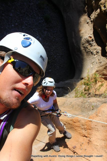 Rapelling with Austin