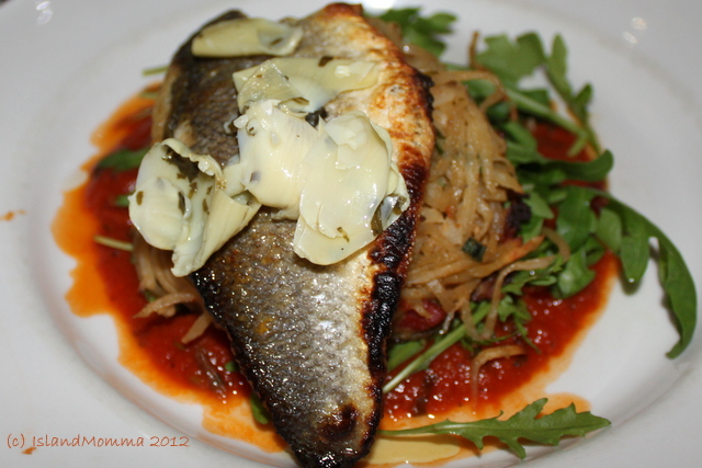 PJs' Sea Bass on Cornish Crab hash