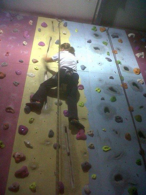 Me at climbing wall