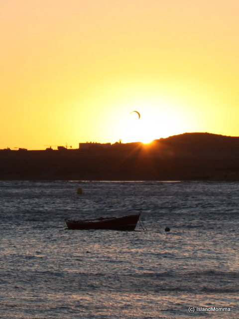 And .... inevitably....the one where I wished I'd taken a different lens! How cool would it have been to catch that kite surfer closer up against the setting sun?