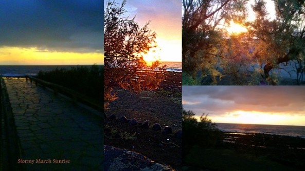 Phases of a stormy sunrise