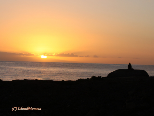 """Zen Man"" contemplating an especially gorgeous sunrise"