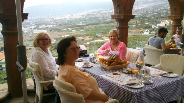 Colleen, Linda and Val and that amazing view