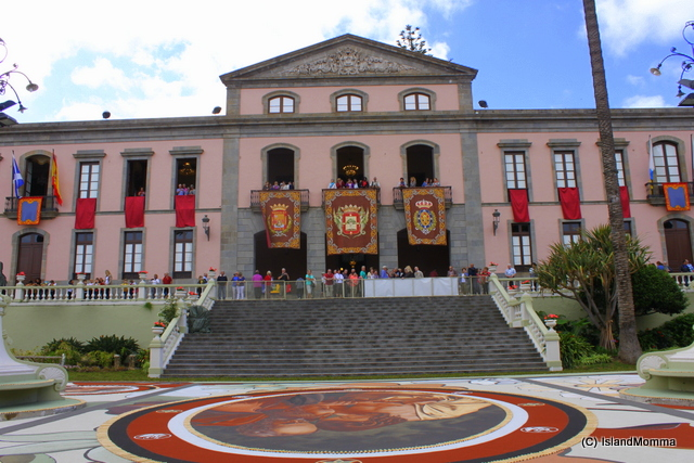 Front of Orotava's distinguished town hall