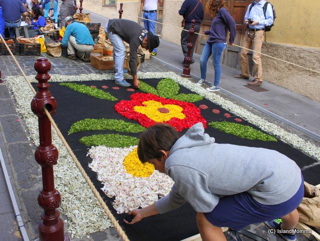 floral carpets la orotava