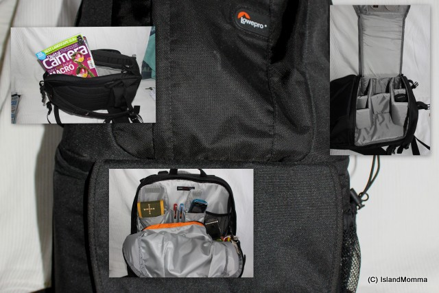 Love my Lowepro bag, but it doesn't cover my needs when I get to my destination.