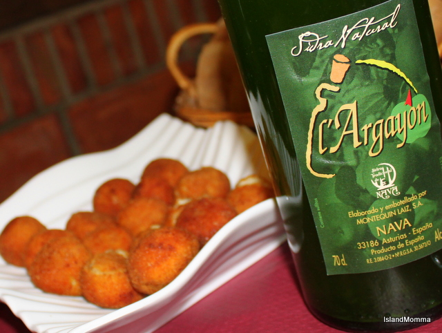 Goat's cheese croquettes and Cider a combination for the gods!