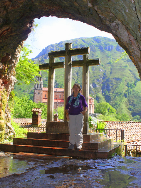 me and the basilica from the shrine covadonga