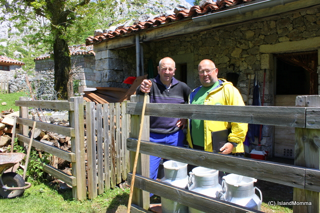 My incredible guide, Juanjo and our very hospitable shepherd who so kindly showed us his cheese making