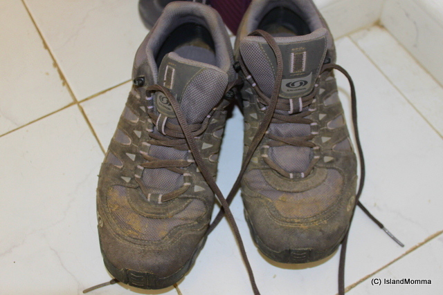 State of my now dry but still bearing the mud of Asturias boots, more than a week after returning!