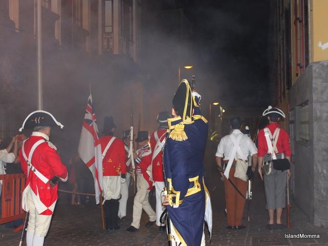 Captain Troubridge joins his men in the assault