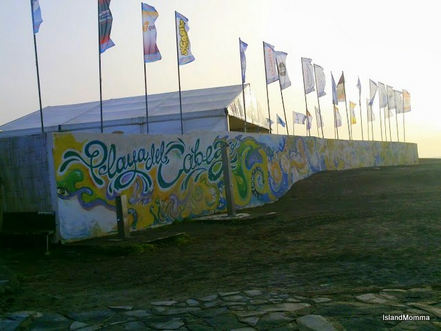 Playa Cabezo yesterday morning, waiting to greet the World Windsurf Tour