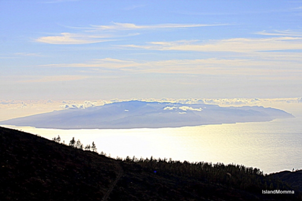 La Gomera seen from the hillsides of west Tenerife