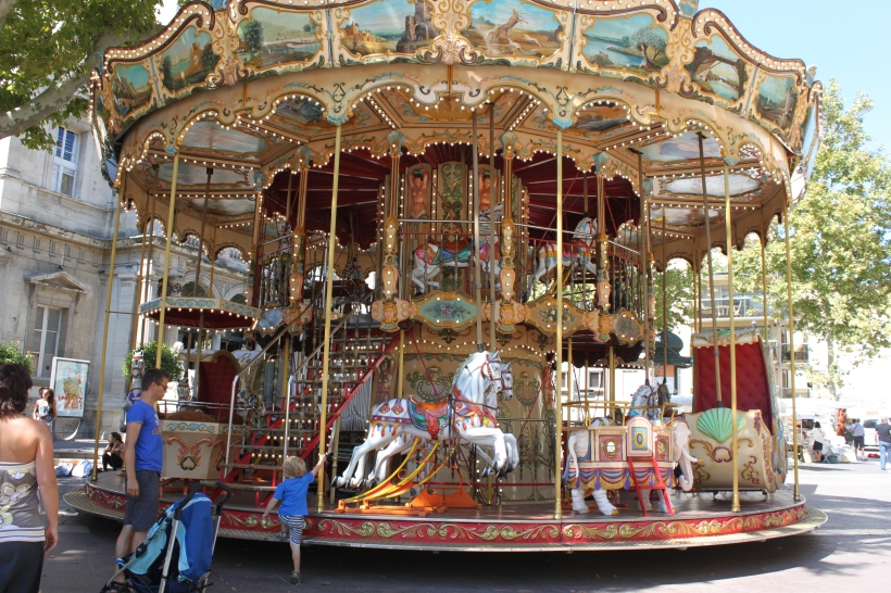 Carousels are such a common sight in the south of France, and guaranteed to make me nostalgic.