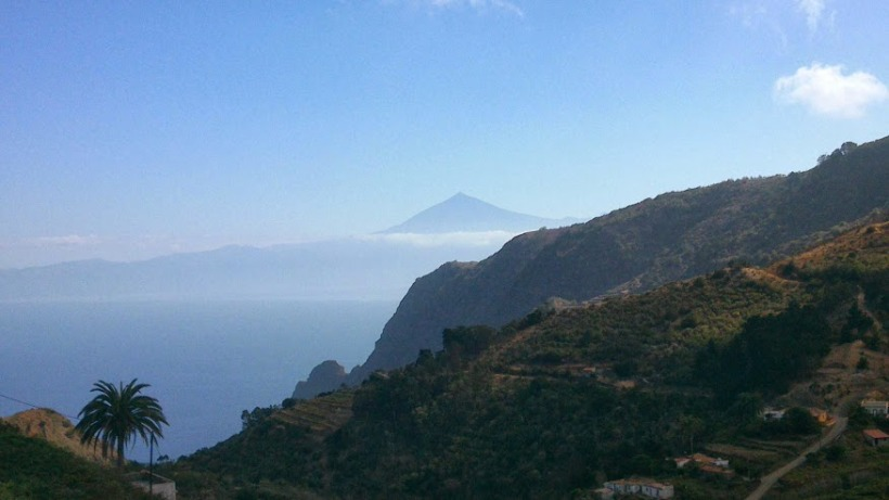 Tenerife and TEide from la gomera