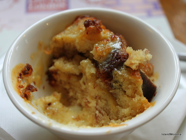 Banana Bread Pudding in the English Restaurant