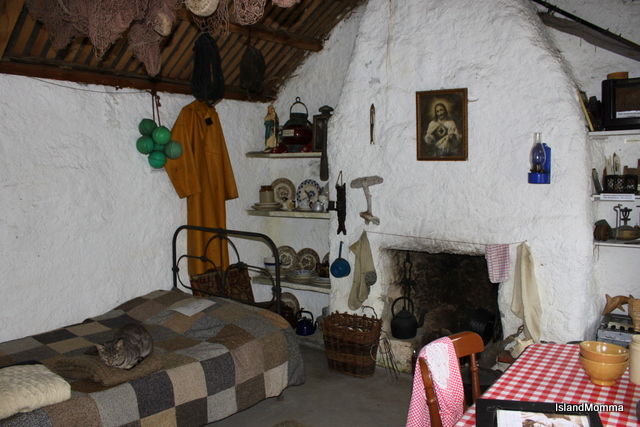 Interior fisherman's cottage Clencolumcille Folk Village Donegal