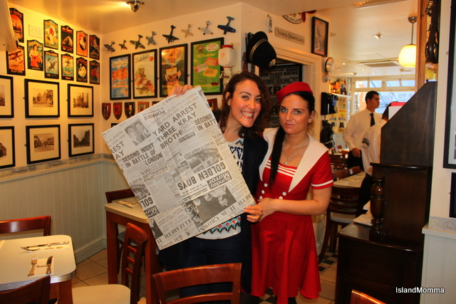 Newspaper and waitress Poppies