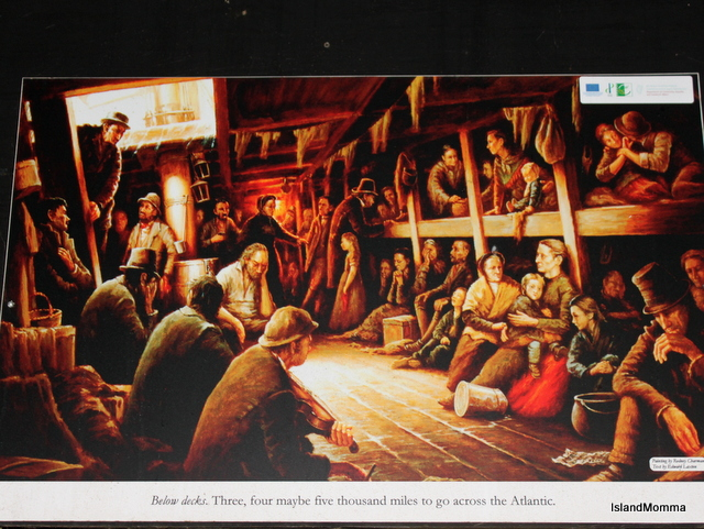 Painting Inside Famine Boat en route Ireland to US 19th C