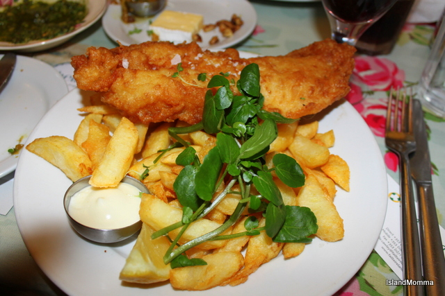 Fish 'n' chips Shells Cafe Strandhill Sligo
