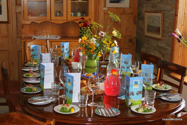 Table setting Eithnas by the Sea  Sligo