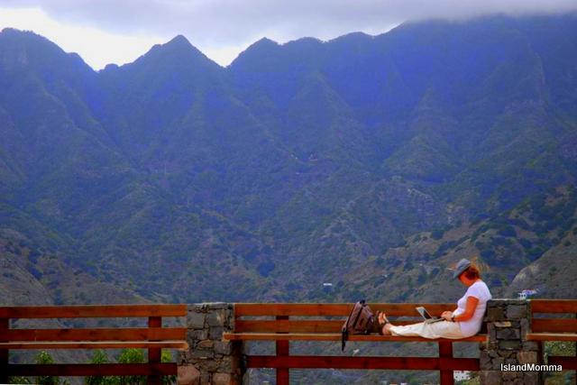 Working by Ermita San Juan Hermigua La Gomera