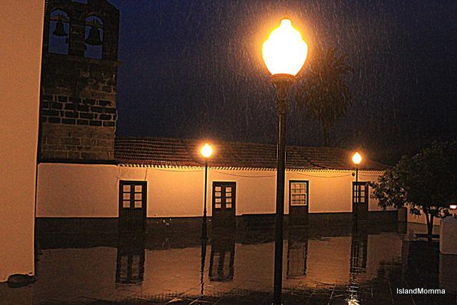 The church square last night