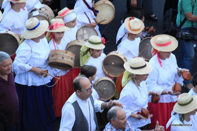 Folk group accompanies virgin of Guadalupe hermigua la gomera