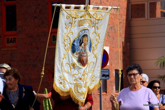 Procession of return of virgin of Guadalupe San Sebastian de la Gomera