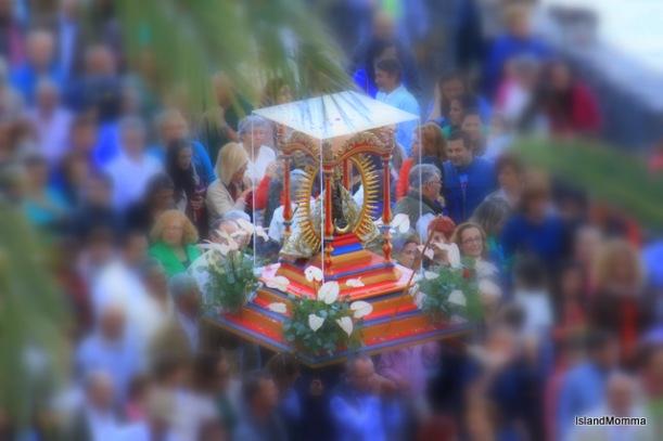 Statue of La Virgen de Guadalupe hermigua la gomera