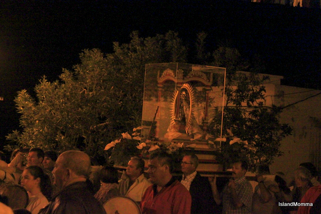 virgin guadalupe carried into church