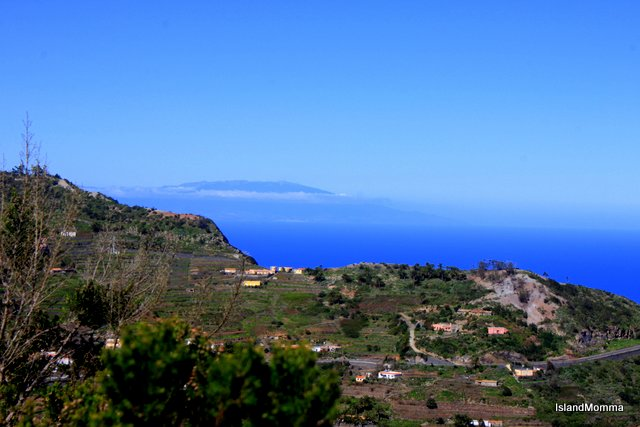 The island of La Palma, lazy on the horizon.