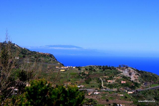 The island of La Palma, lazy on the horizon.