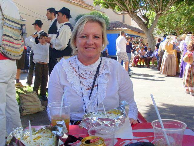 Enjoying the local fiesta in San Miguel de Abona