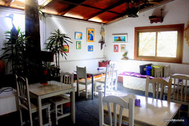 Just one of the dining areas in Tasca Telémaco
