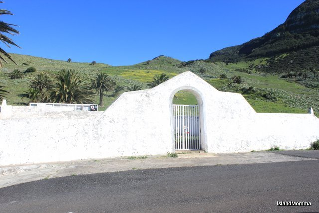 Lovely siting of the cemetary in Alojera on La Gomera