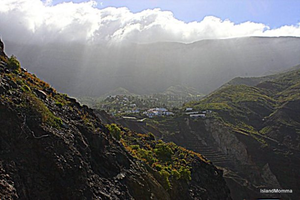 Clouds gather over the mountains of La Gomera. January & February this year, this happened almost every day.