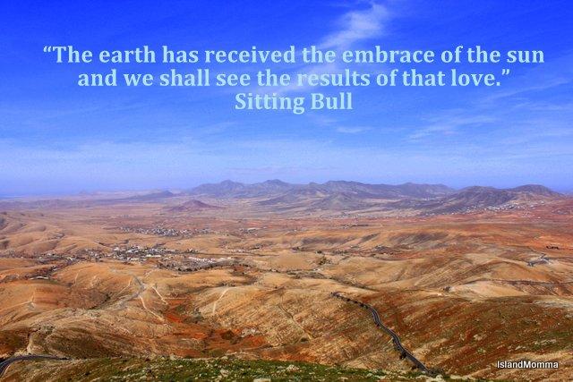 Fuerteventura & Sitting Bull quote