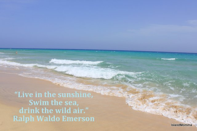 The beach at Morro Jable and some Thoreau wisdom on the subject