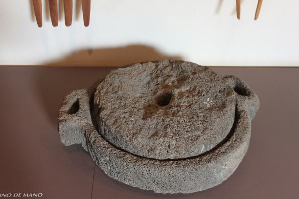 Gofio handmill in the Gofio museum in Valle Guerra, Tenerife