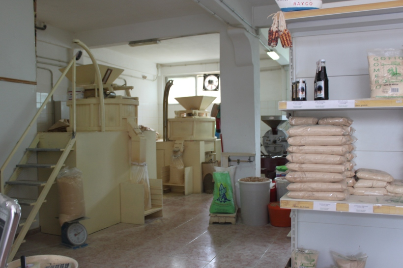 The modern-day gofio mill in Hermigua, La Gomera