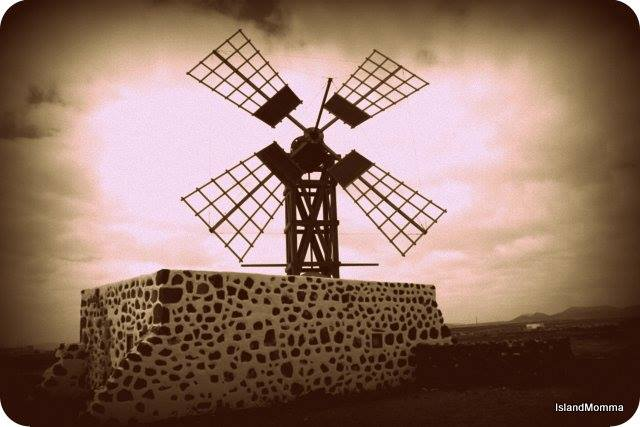 The later model of windmill, or molina, in Fuerteventura
