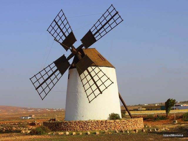 Traditional style windmill, or molino, in Fuerteventura