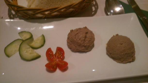 Hoemade pate at Portobello