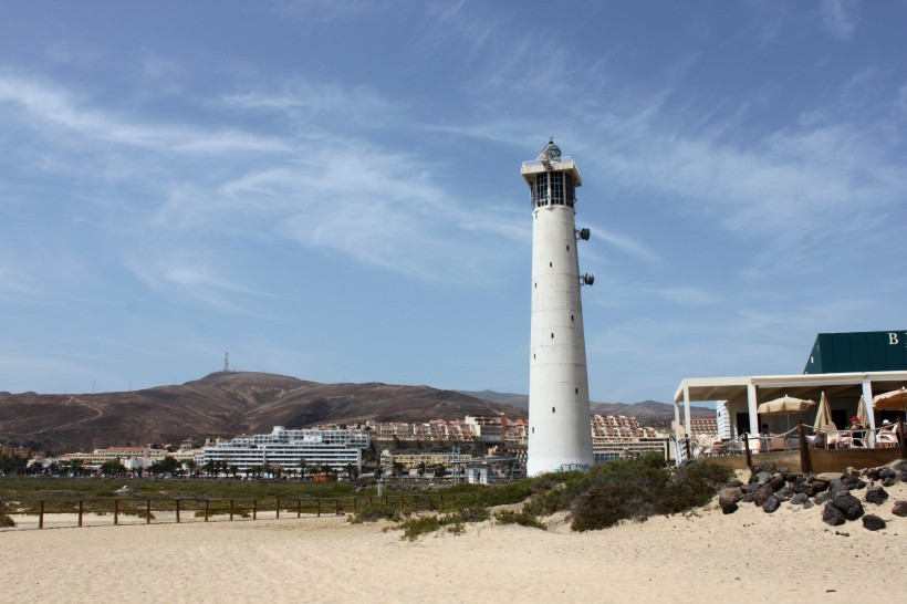 Lighthouse at Morro Jable on the Jandia peninsula