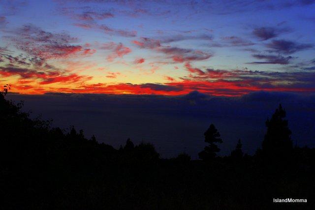 sunset las tricias la palma canary islands