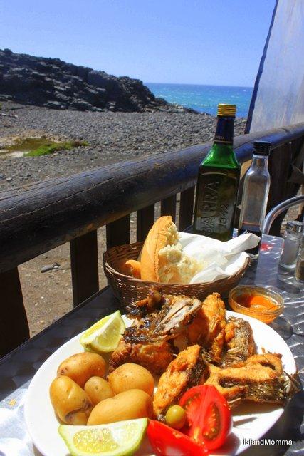 Fried fish in Los Molinos