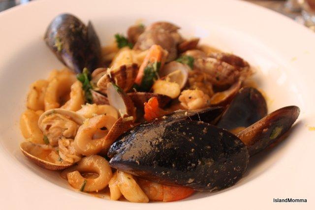 Seafood pasta in Tantaluna in Corralejo