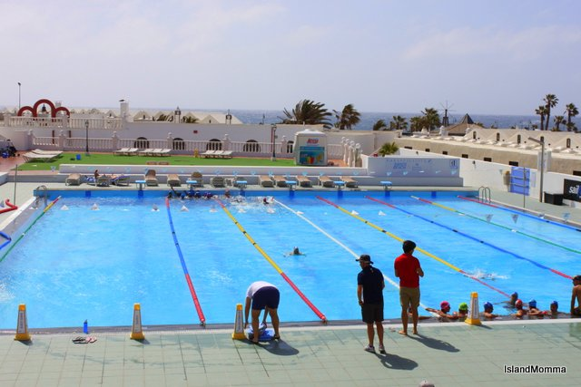 The training pool outside my window