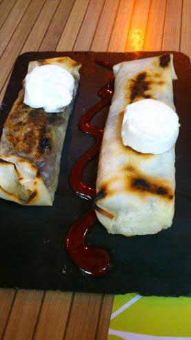 "Veggie ""sacks"" topped with goat's cheese in Tapaventura in Gran Tarajal"
